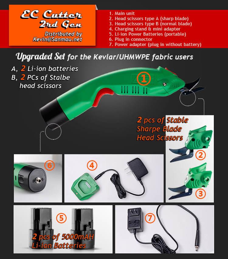 EC portable cutter for Kevlar Fabric