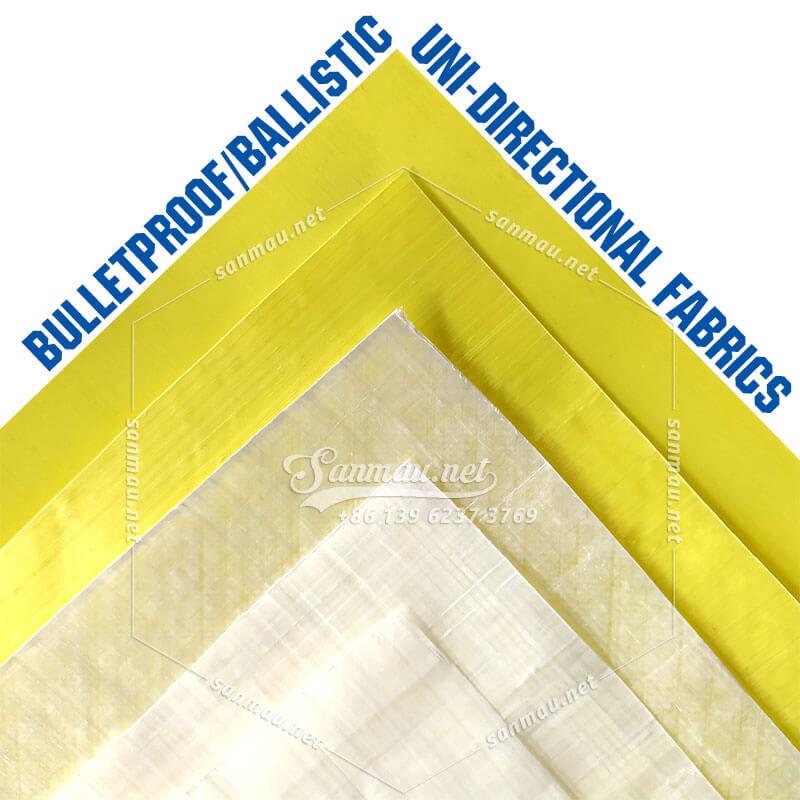 The most used bulletproof ballistic UD fabric of Kevlar|aramid & Dyneema|UHMWPE