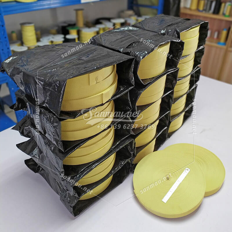 35x1.4mm Aramid Webbing, flame resistant, durable on 250 degree centigrade, for driving mechanical parts