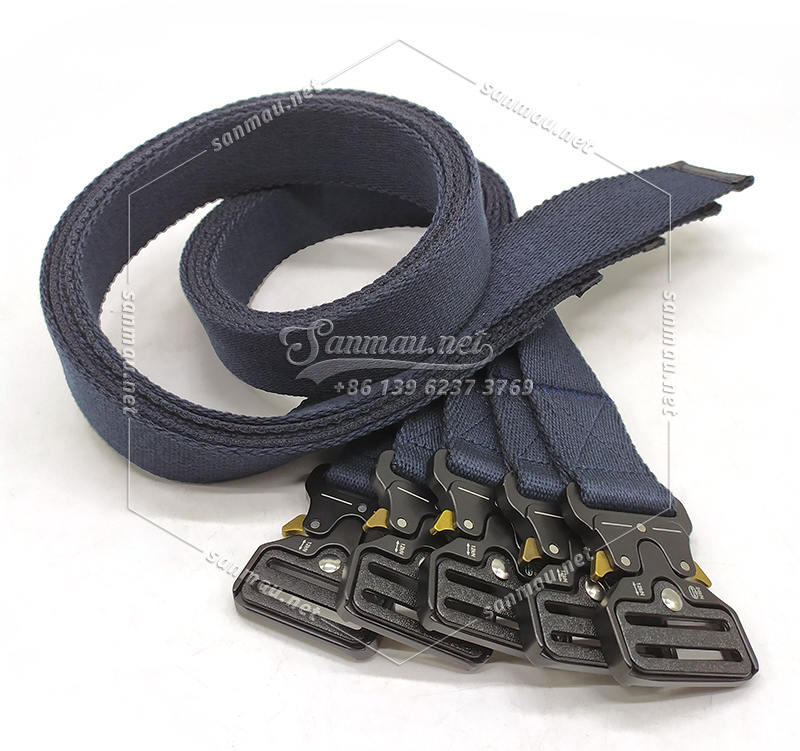 Nomex tactical belt manufacturer, make to order, navy blue, fire-proof