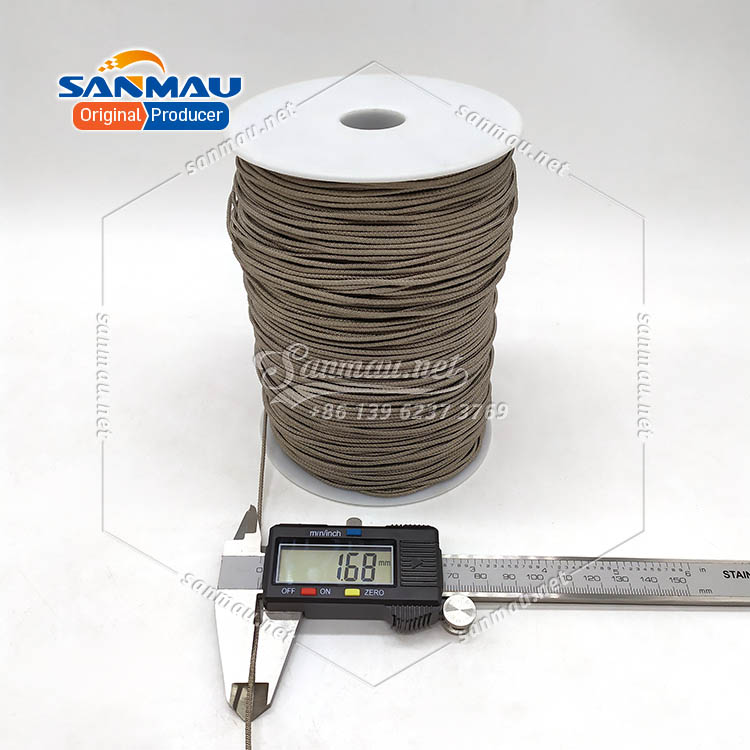 Silver Cord for Electronic Devices Silver Fiber Cord