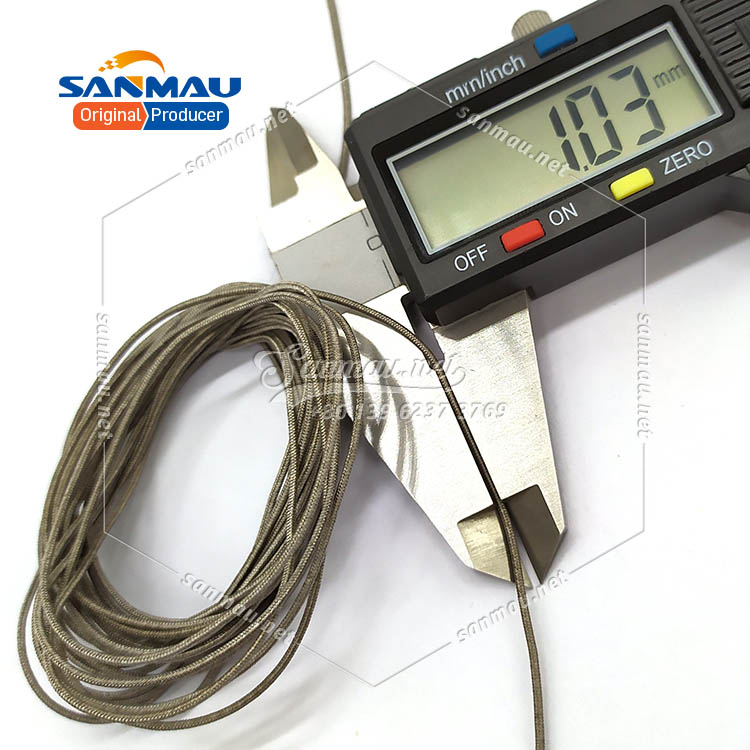 Silver Cord for Electronic Devices Silver Fiber Cord Silver Line